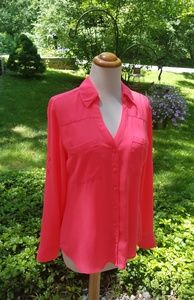 Express Portfolio Pink Button Down Shirt Size S